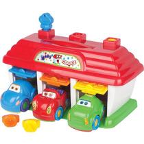 3 Carrinhos Com Garagem Baby Garage Brinquedo Bebe Big Star