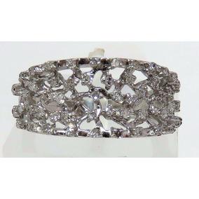 Pocao2005- Anel De Ouro Branco 18k750 Diamantes Vivara 785