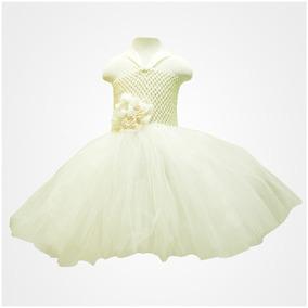 Vestido Tutu Para Niña Color Beige Oferta 6 Meses 1 Año 2/3