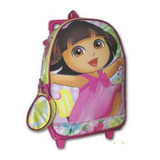 Morral Mediano Con Ruedas Dora Discovery Kids Original