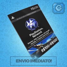 Cartão Psn Br Brasil Brasileira R$200 Reais (r$ 100 +r$100)