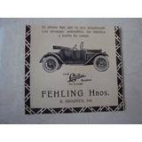 Clipping Auto Cadillac Roadster Fehling Hnos. Publicidad