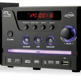 Mini System Multilaser 141 Preto Com Dvd Player Usb Rádio