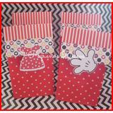 Bolsas Para Golosinas X 10 Unidades - Minnie & Mickey