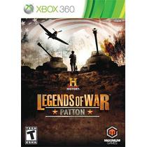 Jogo Novo Ntsc History: Legends Of War Patton Para Xbox 360