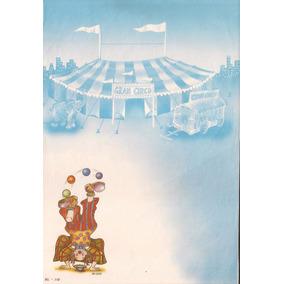 Lote De 02 Papel De Carta Antigo Palhaço Circo Anos 80