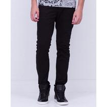 Calça Jeans Masculina Skinny Com Lycra Slim Sarja Coloridas