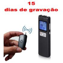 15 Dias Gravador Voz Profissional Detecção Voz Spy 16gb