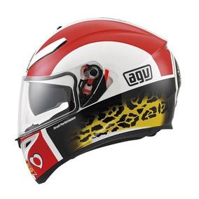 Casco Agv K-3 Sv Simoncelli Moto Gp Incluye Visera Smoke