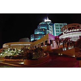 Vista Nocturna Casino Punta Del Este - Lámina 45 X 30 Cm.