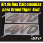 Calcomania 4wd Para Camioneta Pick Up Chery Grand Tiger