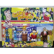 Coleção 5 Bonecos Turma Do Chaves Animado Sr. Madruga .
