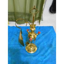 Antiga Lamparina A Querozene De Bronze E Latão