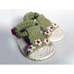 Sandalias Tejidas A Crochet (tres Pares)
