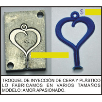 Molde De Inyecion De Plastico O Cera Corazon Amor Apasionado