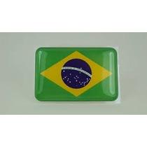 Adesivo Bandeira Resinada Brasil 9,0x4,5