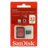 Cartão De Memória Sandisk 32gb Para Motorola Iron Rock Xt626