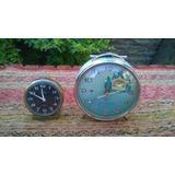 Lote 2 Antiguos Relojes Despertadores Chino Y Aleman No Func