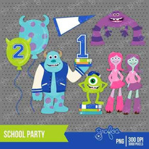 Kit Imprimible Monsters University 4 Imagenes Clipart