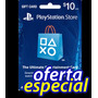 Tarjeta Playstation Psn $10 Usa - Ps4 Ps3 Ps Vita