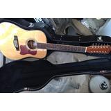 Guitarra 12 Cuerdas Electroacustica Caraya Natural C/estuche