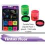 Tinta Corporal Neon + Pincel + Tinta Gel Cabelo Neon