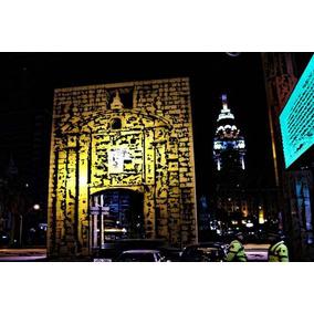 Vista Nocturna Puerta De La Ciudadela - Lámina 45 X 30 Cm.