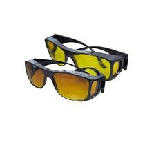 Gafas Hd Vision Wraparounds - Lente Amarillo Marco Negro