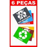 Adesivo Para Lixeira Material Reciclável Lixo Reciclável