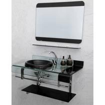 Kit Gabinete /pia/ Bancada Banheiro Estilo Astra Chopin 70cm