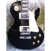 Guitarra Les Paul Standard Black Mirrs Canje Envio Tarjetas!