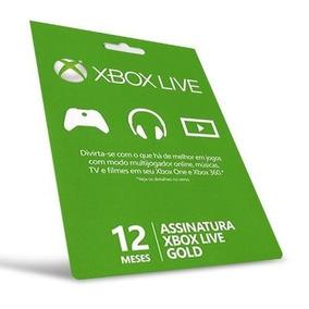 Xbox Live Gold Brasil Br - Cartão 12 Meses 1 Ano Xbox One