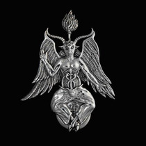 Baphomet Plata Dije De Protección Astral Y Fuerza Y Deseos