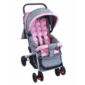 Carrinho De Bebê Berço E Passeio Rosa Baby Style