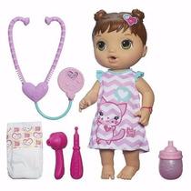 Boneca Baby Alive Cuida De Mim Morena Faz Xixi - Hasbro