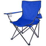 Cadeira Camping Pesca Dobrável C/braço Porta Copo E Sacola