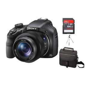 Camera Sony Hx400v Zoom 50x Wi-fi Gps +64gb C/10+capa+tripe