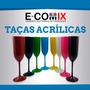 Kit 100 Unidades Taças Acrílicas Champagne Festas Coloridas