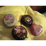 4 Monederos De Metal, Ben 1o Barbie Y Princesas Promocion