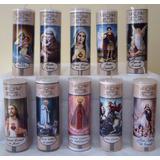 20 Vela Votiva 7 Dias Imagem Oração Varios Santos Católicos