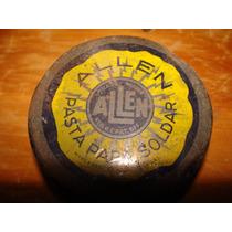 Latita De Pasta De Soldar Antigua, 6cm De Diametro