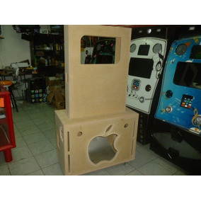 Mueble Para Rockola Tipo Ipod Desmontable Natural