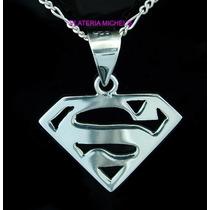 Dije De Superman Grande En Plata Ley 0.925 Vv4
