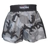 Shorts Muay Thai Tanoshi Camuflado Cinza Tamanho G