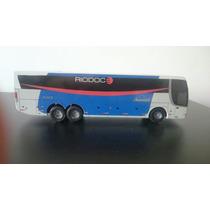 Miniatura De Ônibus Em Madeira Viação Rio Doce S/ Retrovisor