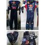 Macacao Kart Red Bull Com Luvas E Sapatilhas