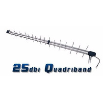 Antena Quadriband 25dbi P/ Celular E Internet Rural 2g 3g 4g