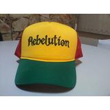 Boné Reggae Rebelution Jamaica Trucker Frete Grátis