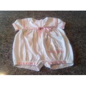 Macacão De Bebê Para Menina Tecido Fustão Fino