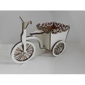 10x Bicicleta Provençal Branca C/cahepô P/ Flores, P/montar